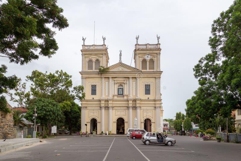 圣玛丽的教会在内贡博,斯里兰卡 图库摄影