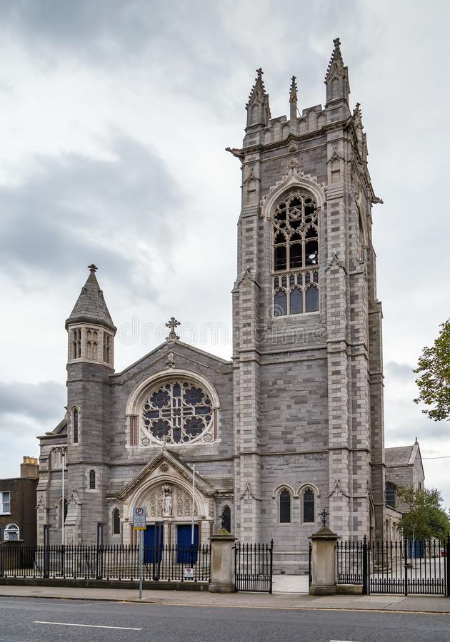 圣玛丽的教会,都伯林,爱尔兰 免版税库存照片