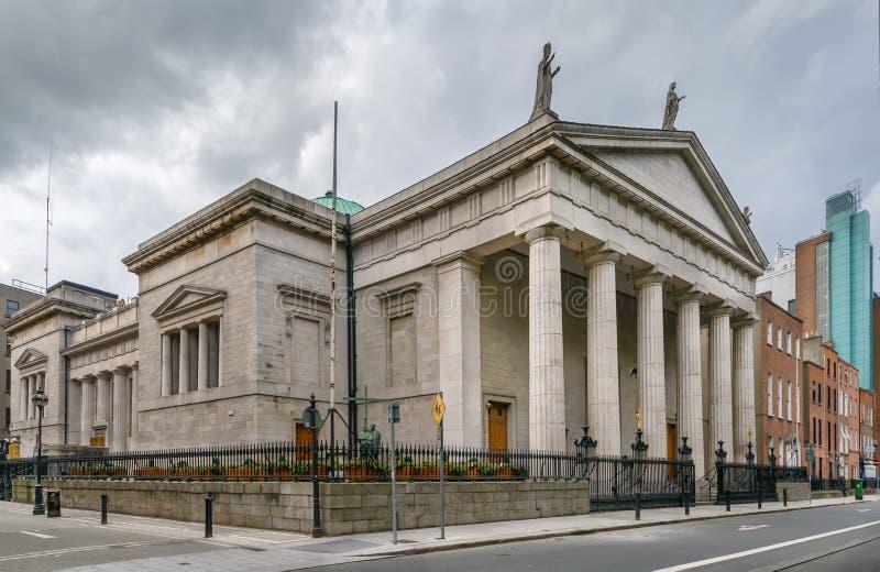 圣玛丽的教会,都伯林,爱尔兰 库存照片