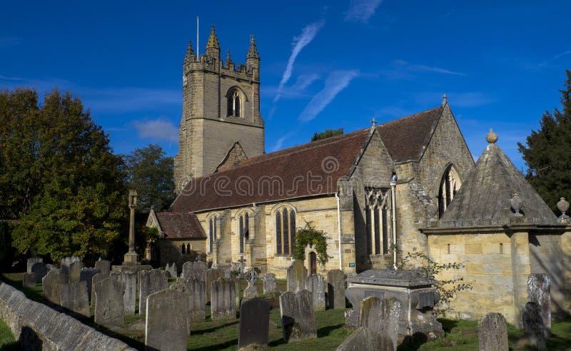 圣玛丽的教会,Chiddingstone,肯特,英国 库存照片