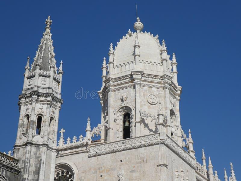圣玛丽的教会,Jeronimos修道院,里斯本,葡萄牙圆顶  免版税图库摄影