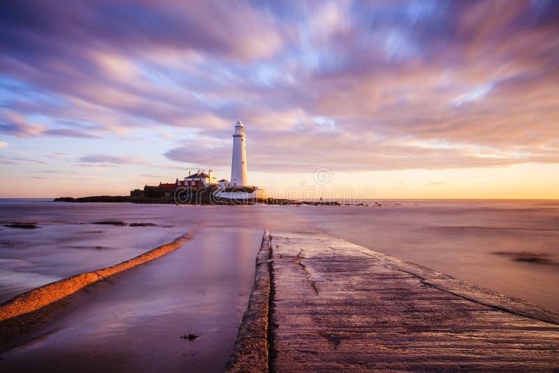 圣玛丽的灯塔-惠特利海湾 免版税库存照片