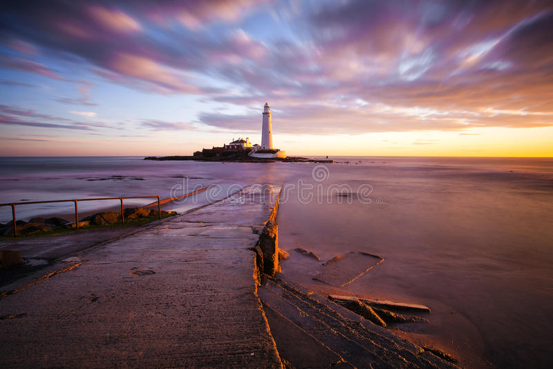 圣玛丽的灯塔-惠特利海湾 免版税库存图片