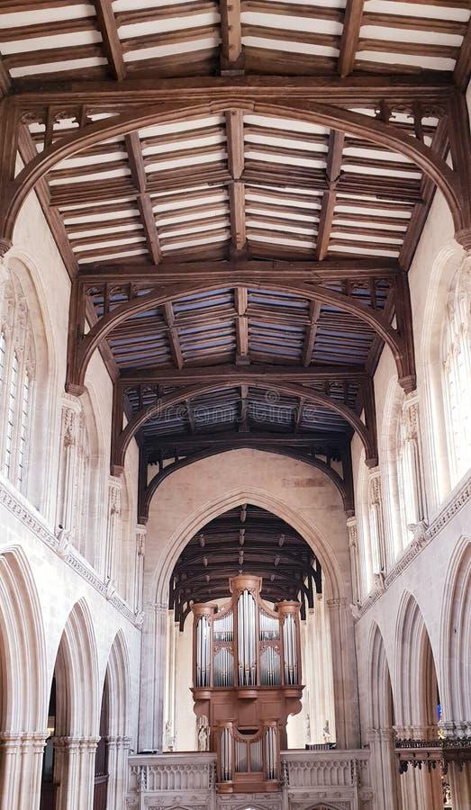 圣玛丽维尔京教会,牛津,英国 免版税库存照片