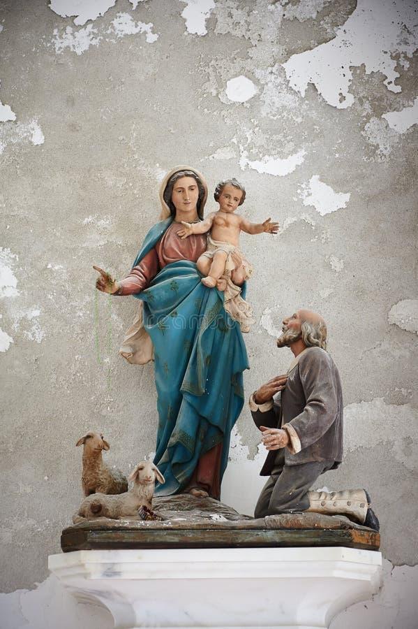 圣玛丽雕塑  库存图片