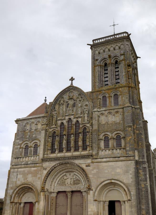 圣玛丽从良的妓女Basilique在Vezelay修道院里 伯根地酒法国 库存照片