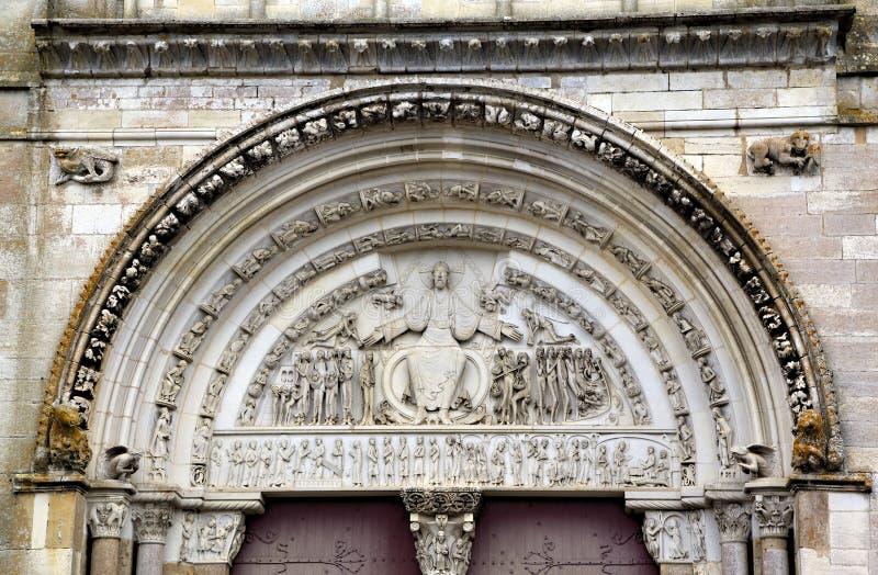 圣玛丽从良的妓女Basilique在Vezelay修道院里 伯根地酒法国 库存图片