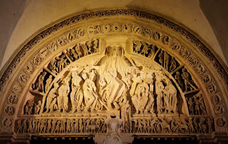圣玛丽从良的妓女Basilique在Vezelay修道院里 伯根地酒法国 图库摄影