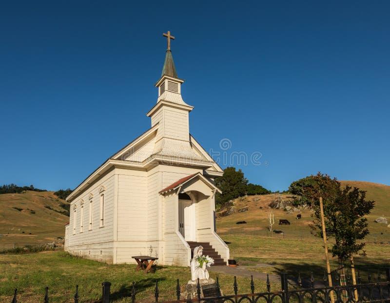 圣玛丽` s教会在Nicasio 图库摄影