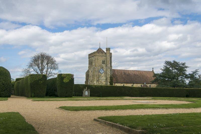 圣玛丽` s教会,争斗,苏克塞斯,英国 免版税库存图片