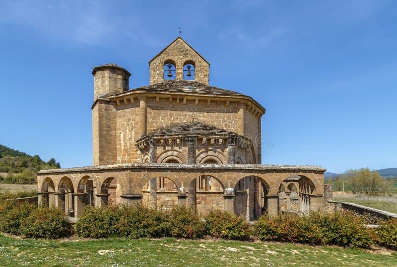 圣玛丽Eunate,纳瓦拉,西班牙教会  库存图片
