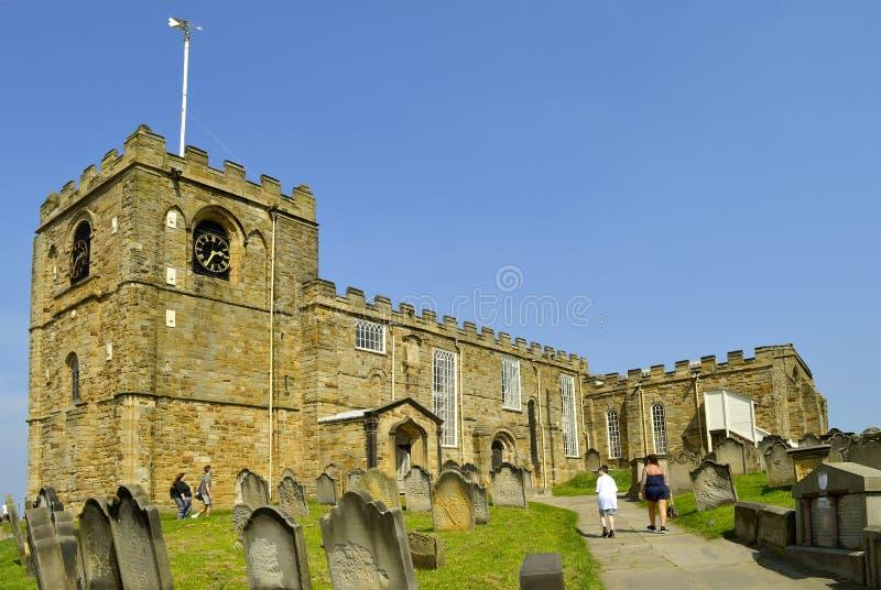 圣玛丽Whitby教会  库存图片