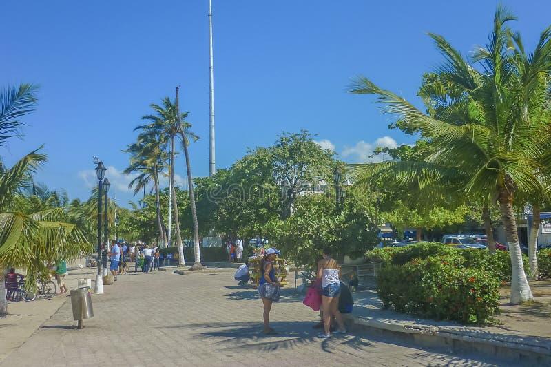 圣玛尔塔海滩在哥伦比亚 库存图片