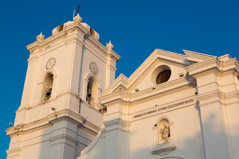 圣玛尔塔,哥伦比亚大教堂  库存照片