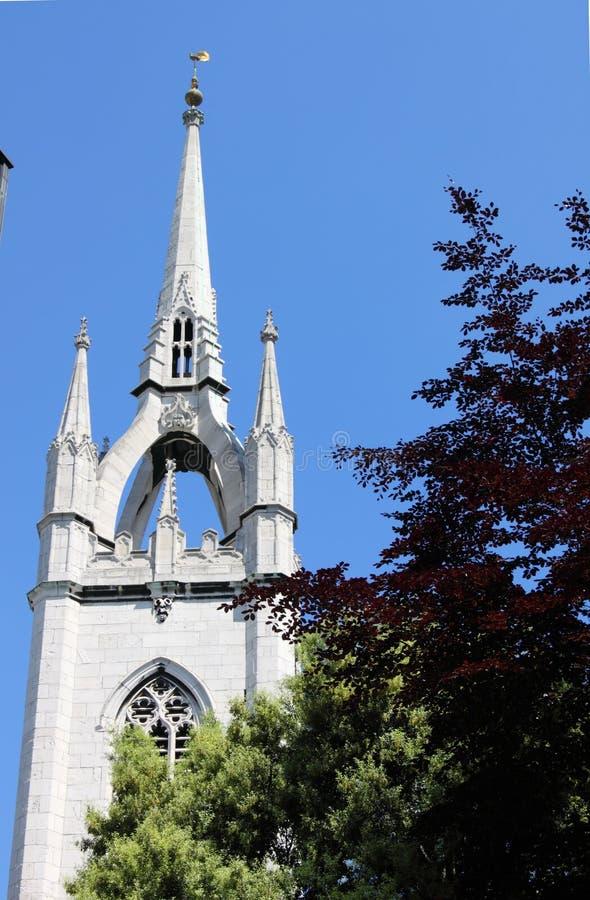 圣玛格丽特木套鞋教会在伦敦 库存照片