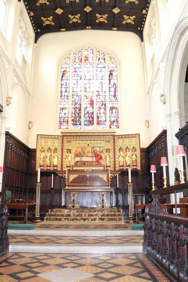 圣玛格丽特的教会,西敏寺内部  库存照片