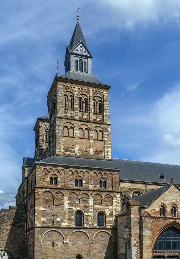 圣瑟法斯,马斯特里赫特,荷兰大教堂  免版税库存照片