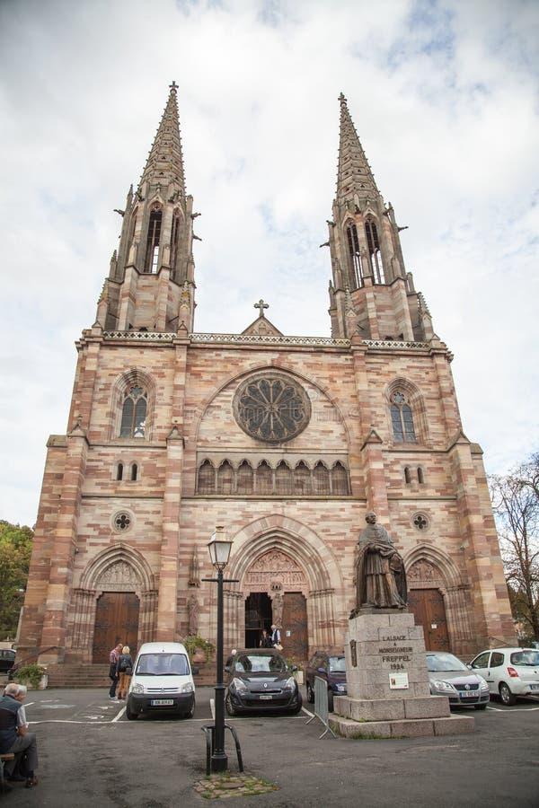 圣皮埃尔教会在Obernai,法国 免版税库存照片