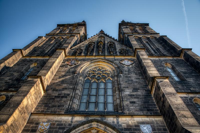 圣皮特圣徒・彼得和保罗布拉格Vysehrad大教堂  免版税库存图片