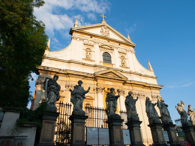 圣皮特圣徒・彼得和保罗教会在克拉科夫,波兰 库存图片