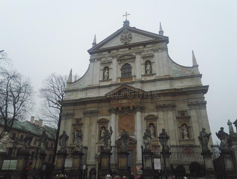 圣皮特圣徒・彼得和保罗教会,克拉科夫,波兰 库存图片