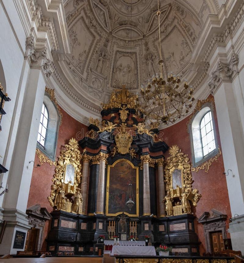圣皮特圣徒・彼得和圣保罗,克拉科夫,波兰教会内部  库存照片