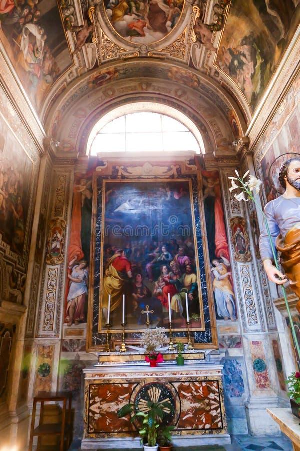 圣皮特圣徒・彼得大教堂-梵蒂冈法坛  库存照片