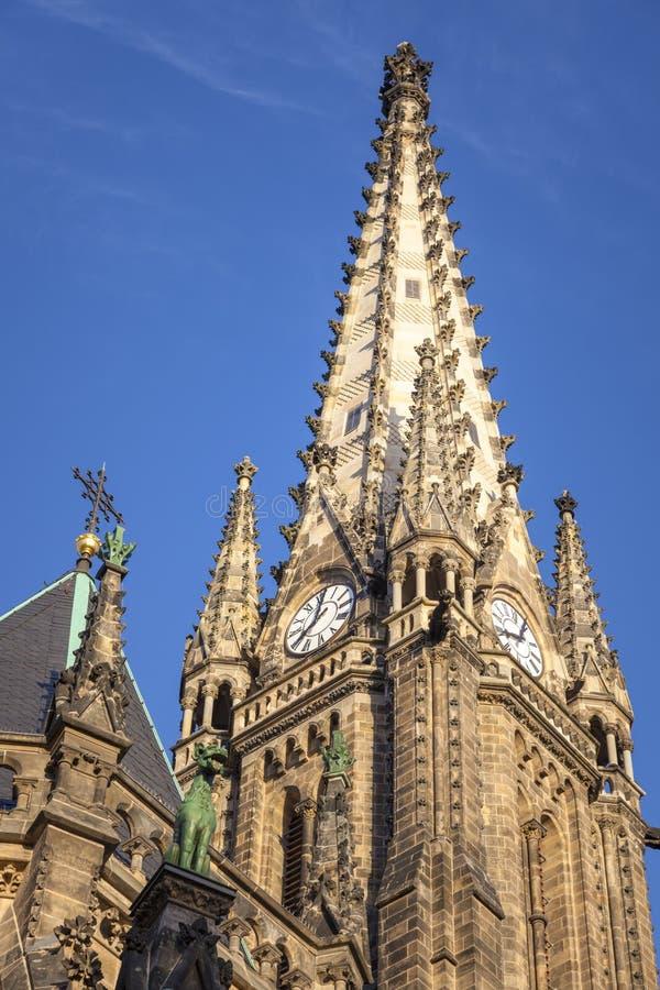 圣皮特圣徒・彼得教会在莱比锡 免版税库存照片