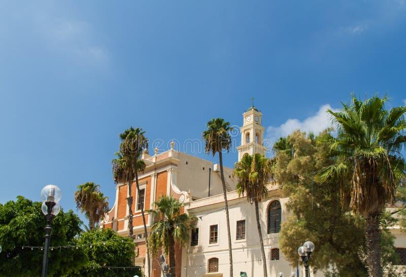 圣皮特圣徒・彼得的教会的看法,圣彼得教会,老贾法角在特拉维夫Yaffo,以色列 库存照片