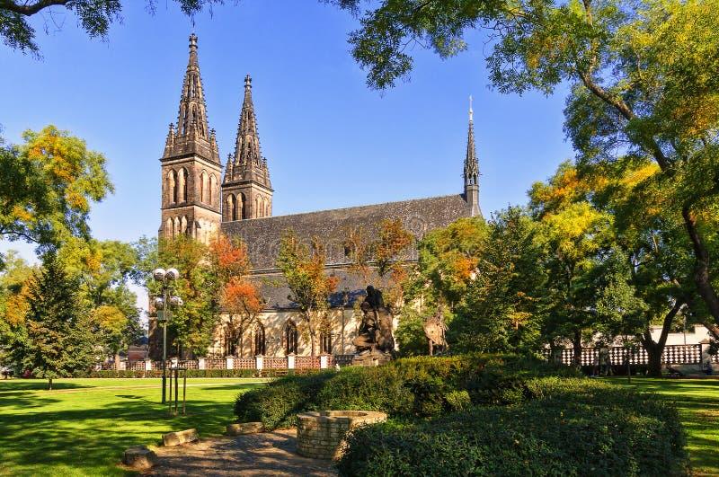 圣皮特圣徒・彼得和保罗, Vysehrad,布拉格大教堂  免版税库存照片