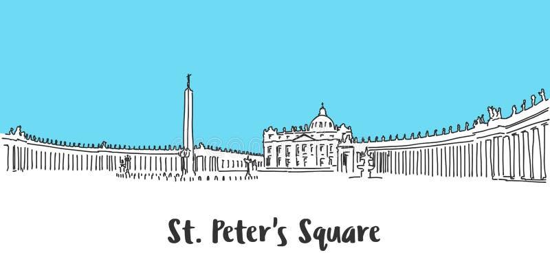 圣皮特圣徒・彼得广场梵蒂冈 皇族释放例证