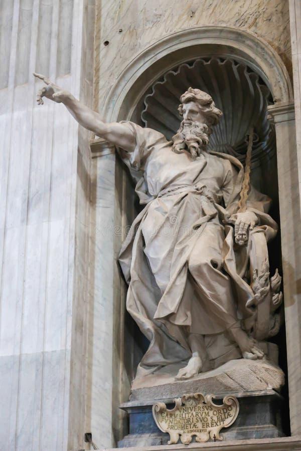 圣皮特圣徒・彼得的大教堂艺术雕塑-梵蒂冈 免版税库存图片