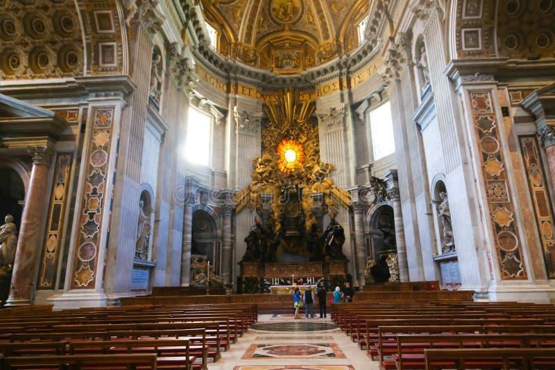 圣皮特圣徒・彼得的大教堂艺术雕塑-梵蒂冈 免版税库存照片