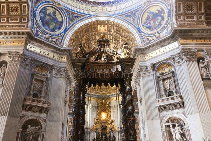 圣皮特圣徒・彼得的大教堂艺术雕塑-梵蒂冈 图库摄影