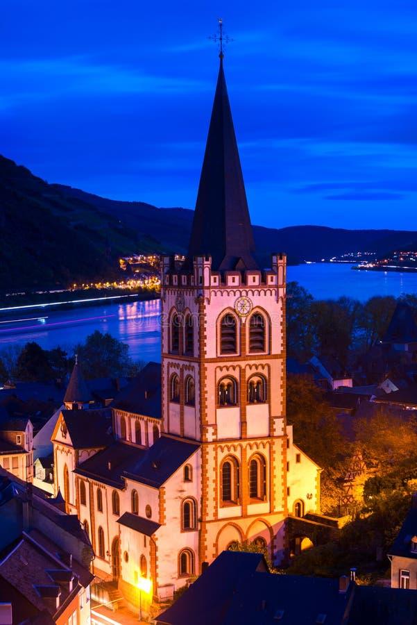 圣皮特圣徒・彼得的教会在Oberwesel,德国 库存图片