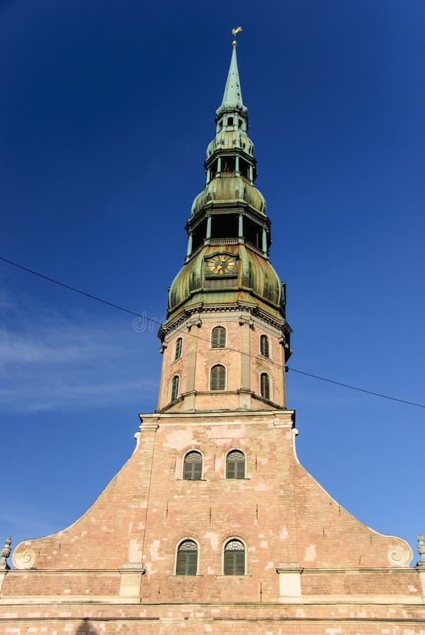 圣皮特圣徒・彼得的教会,里加,拉脱维亚 免版税库存图片