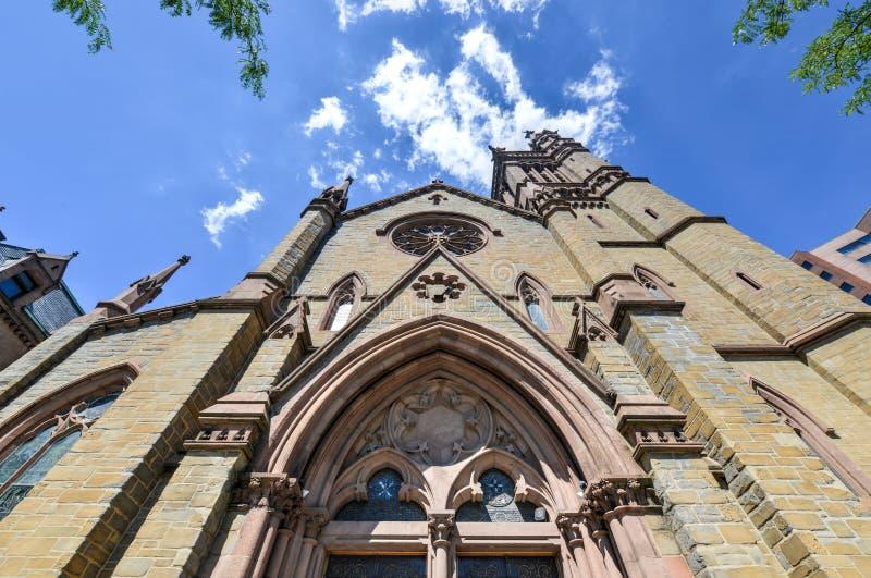 圣皮特圣徒・彼得的主教制度的教会-阿尔巴尼,纽约 库存图片