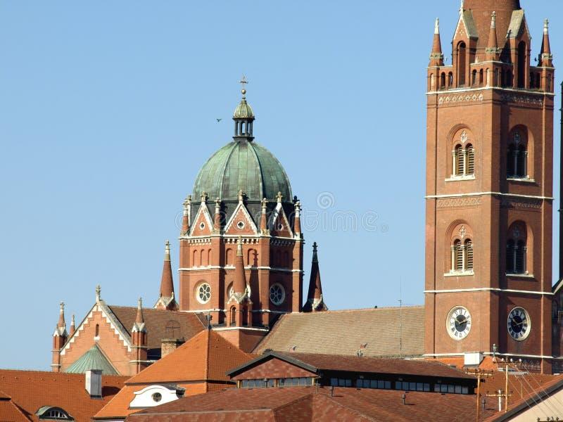 圣皮特圣徒・彼得老大教堂在Djakovo,克罗地亚 免版税库存图片