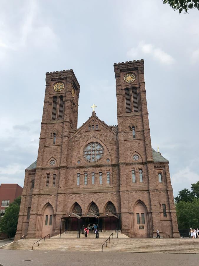 圣皮特圣徒・彼得&保罗大教堂,上帝, RI 库存照片