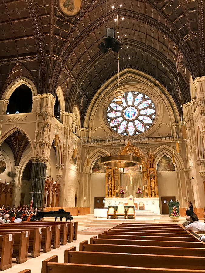 圣皮特圣徒・彼得&保罗大教堂,上帝, RI 免版税库存照片