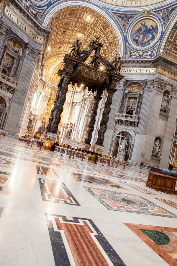 圣皮特圣徒・彼得& x27; s大教堂-梵蒂冈,罗马,意大利 免版税图库摄影