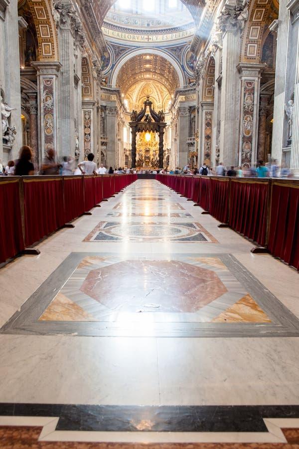 圣皮特圣徒・彼得& x27; s大教堂-梵蒂冈,罗马,意大利 库存照片
