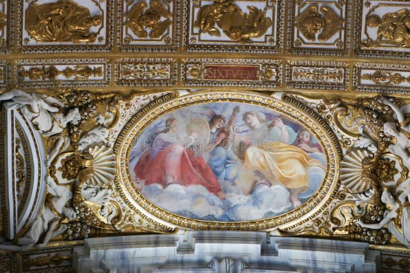 圣皮特大教堂,梵蒂冈 免版税库存图片