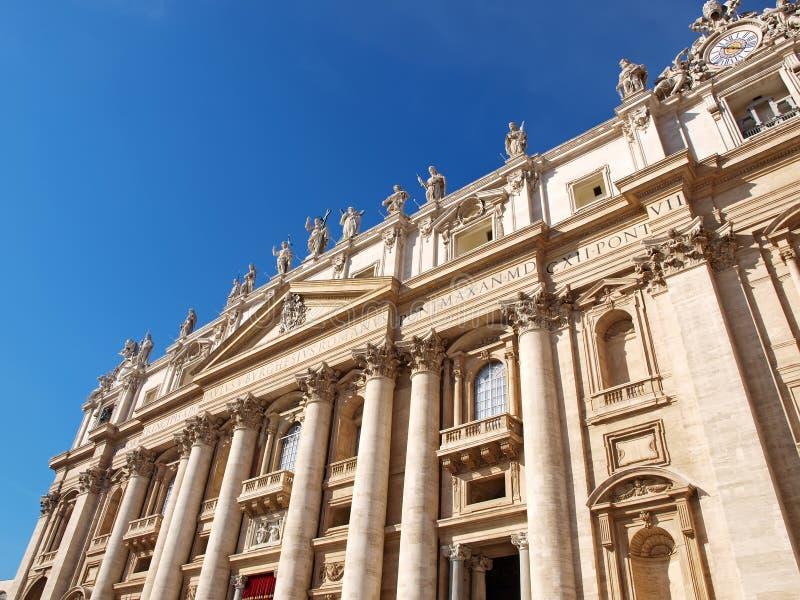 圣皮特的大教堂在梵蒂冈 库存图片