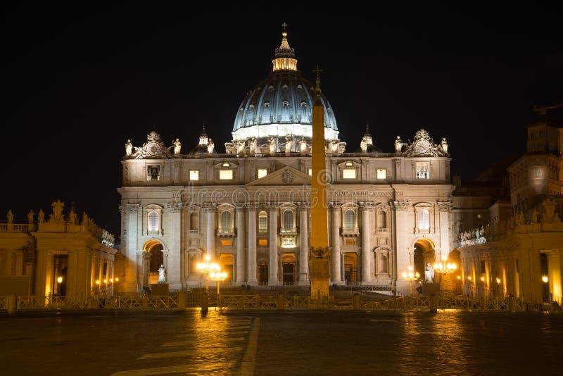 圣皮特的广场在梵蒂冈 库存照片