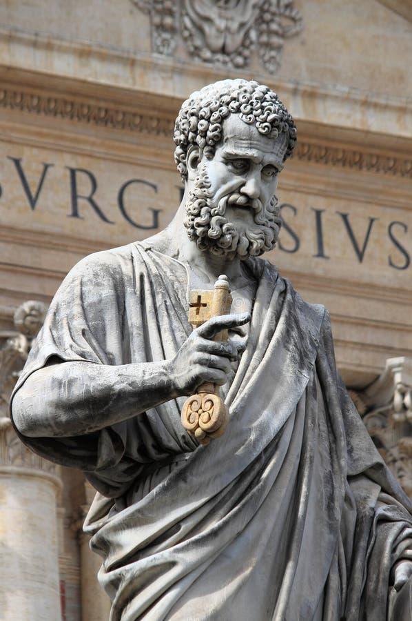 圣皮特雕象传道者 免版税库存照片