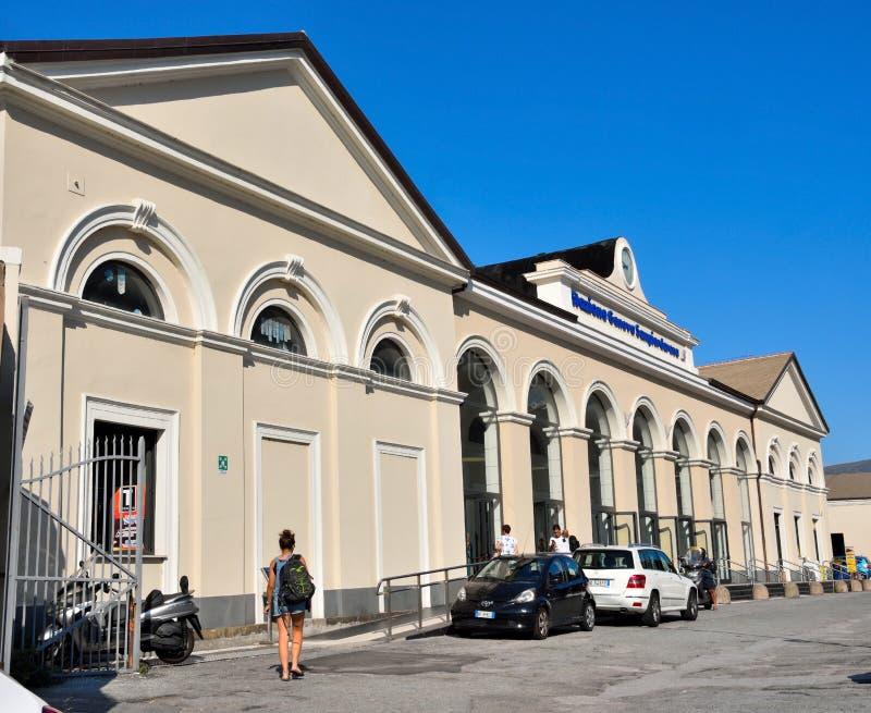 圣码头d的热那亚意大利代表团'竞技场 免版税图库摄影