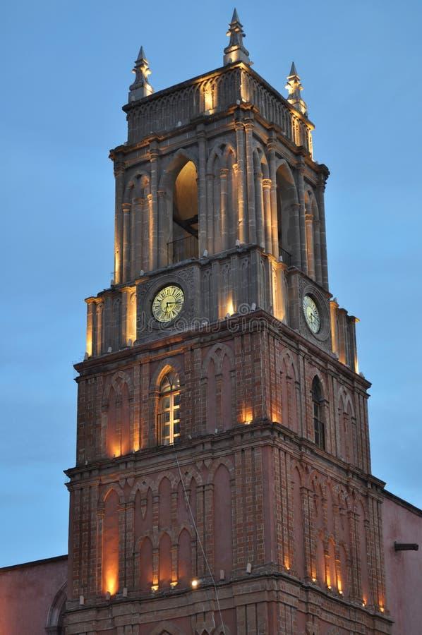 圣米格尔德阿连德尖沙咀钟楼 免版税库存照片