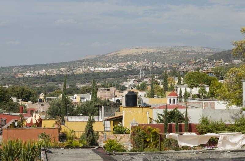 圣米格尔德阿连德,瓜纳华托州,墨西哥 鸟瞰图 库存照片