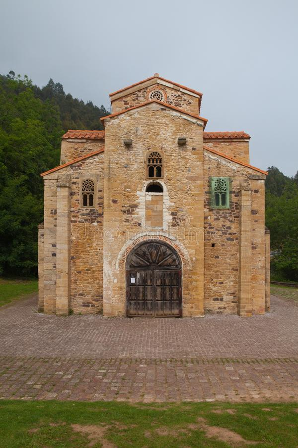圣米格尔火山de利洛,奥维耶多,西班牙教会  免版税库存照片